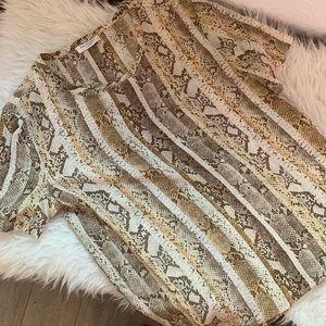 Silk equipment top S snake print B1